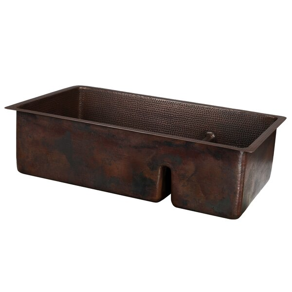 33 x 19 Double Basin Undermount Kitchen Sink With Faucet by Premier Copper Products