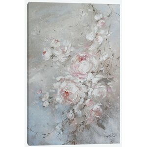Blush Rose Painting Print on Wrapped Canvas by East Urban Home