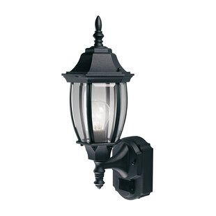 Top Reviews Gladys Coach Aluminum Outdoor Wall Lantern with Motion Sensor By World Menagerie