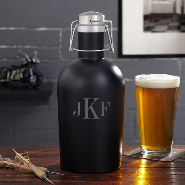 Personalized 64 oz. Beer Growler by Home Wet Bar