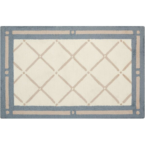 Northampton Hand-Woven Blue/Beige Area Rug by Charlton Home