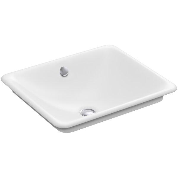 Iron Plains™ Metal Rectangular Vessel Bathroom Sink with Overflow by Kohler