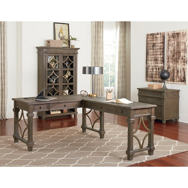 Larissa L-Shape Executive Desk by One Allium Way