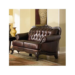 smith leather loveseat - Curved Loveseat