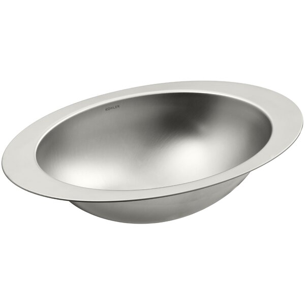 Rhythm Metal Oval Undermount Bathroom Sink by Kohler