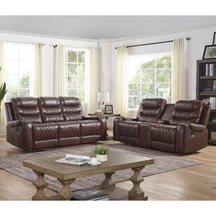 Misael 2 Piece Faux Leather Reclining Living Room Set by Lark Manor™