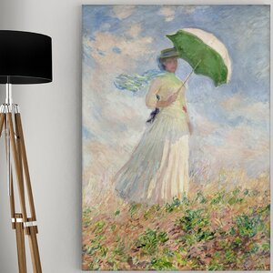 'Study of a Figure' by Claude Monet Painting Print on Wrapped Canvas by Wexford Home