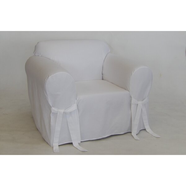 Twill Box One Piece Cushion Chair Slipcover by Alcott Hill