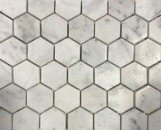 Carrara 1.06 x 1.06 Marble Mosaic Tile in Gray by La Maison en Pierre
