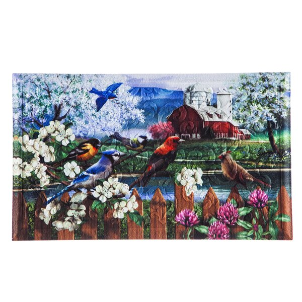 Borrero Spring Gathering Embossed Doormat by August Grove