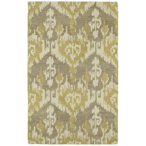 Dodge Hand-Tufted Taupe/Oatmeal/Brownish Yellow Area Rug by Ebern Designs