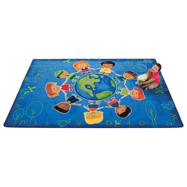 Emerado Give The Planet A Hug Blue Area Rug by Zoomie Kids