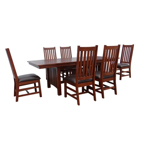 Adrianna 7 Piece Extendable Dining Set by Loon Peak