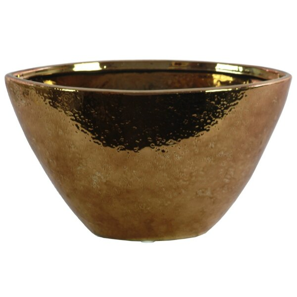 Parque Hammered Pattern Stoneware Table Vase by World Menagerie