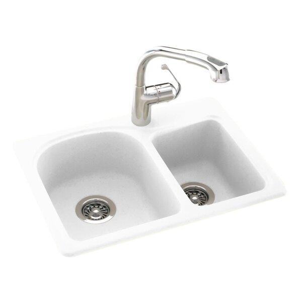 Swanstone 25 L x 18 W Double Basin Drop-In Kitchen Sink