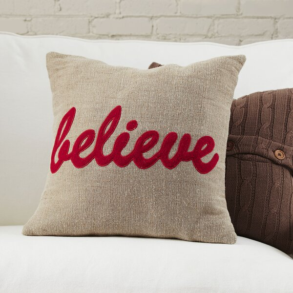 Believe Pillow Cover by Birch Lane™