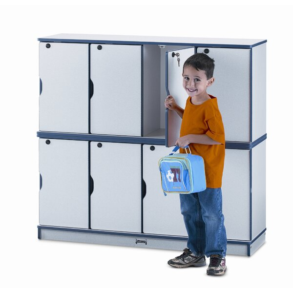 2 Tier 4 Wide School Locker by Jonti-Craft