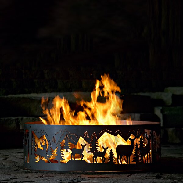 Whitetail Steel Wood Burning Fire ring by P & D Metal Works