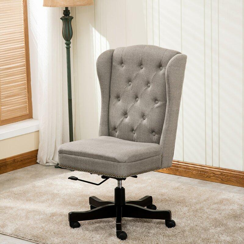 Vidalia Linen Desk Chair