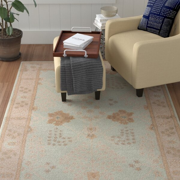 Teegan Hand-Tufted Blue/Gray/Cream Area Rug by Winston Porter