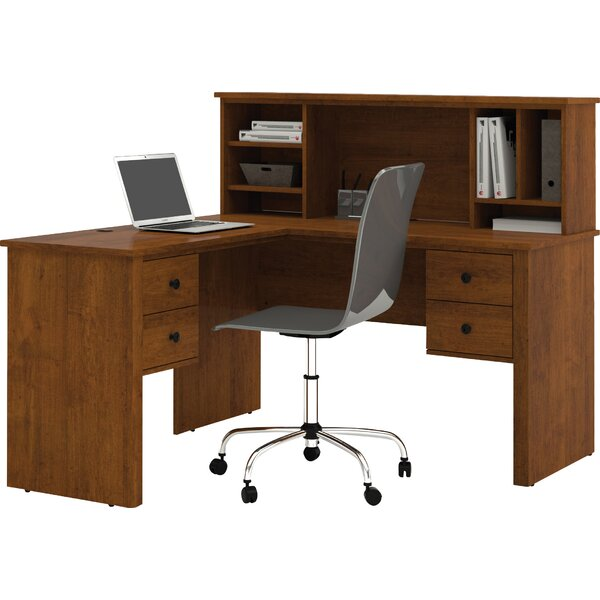 Deweese Corner Executive Desk with Hutch by Red Barrel Studio