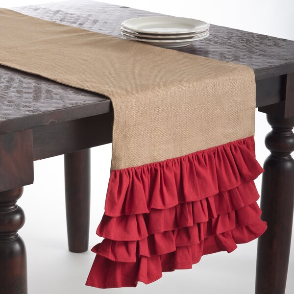 Ruffle Jute Runner by The Holiday Aisle