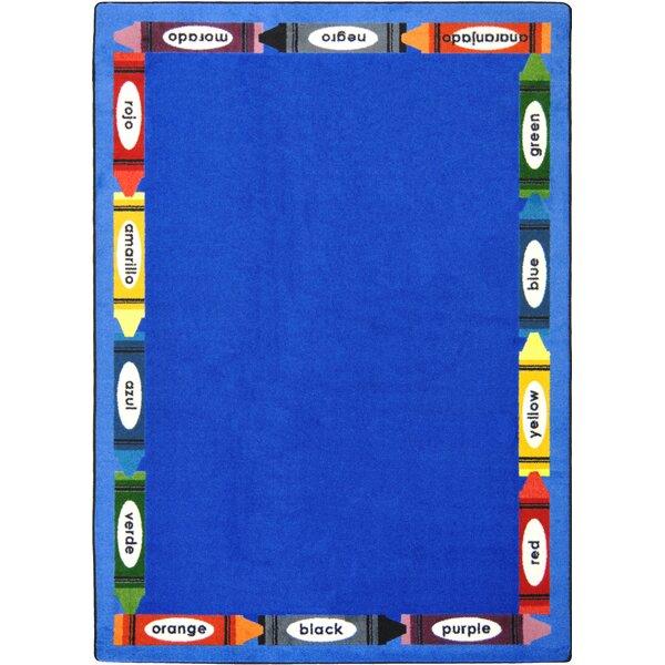 Kid Essentials Bilingual Blue Rug