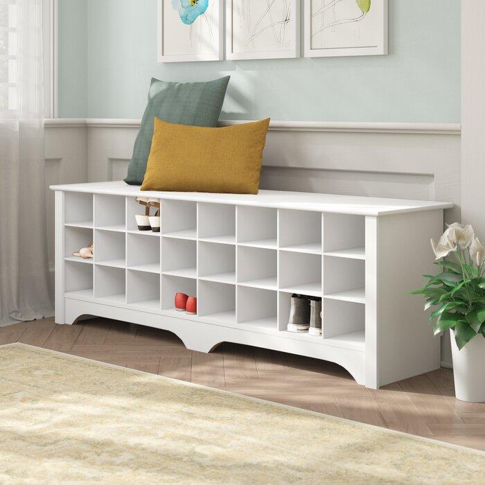 Tremendous Ingham Shoe Cubby Storage Bench Evergreenethics Interior Chair Design Evergreenethicsorg