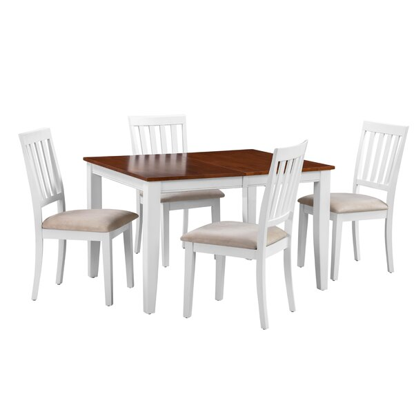 Leisa 5 Piece Solid Wood Dining Set by August Grove August Grove