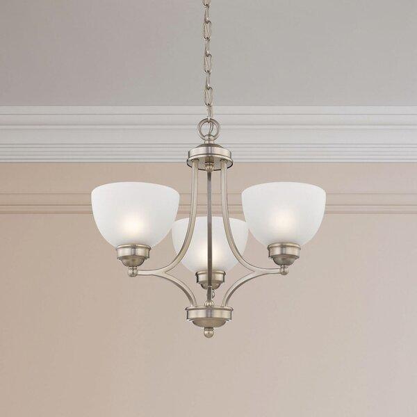 Irwin 3-Light Shaded Empire Chandelier By Alcott Hill