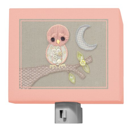 Vintage Baby Owl by Kristen White Night Light by Oopsy Daisy