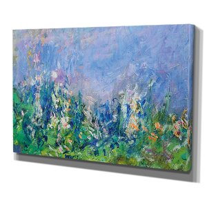 'Lavender Fields Gallery' by Claude Monet Painting Print on Wrapped Canvas by Wexford Home