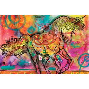 Unicorn Graphic Art on Wrapped Canvas by East Urban Home