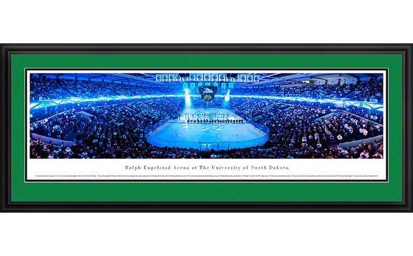 NCAA University of North Dakota - Hockey Anthem Deluxe Framed Photographic Print by Blakeway Worldwide Panoramas, Inc