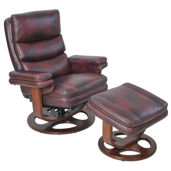 Bella Manual Swivel Recliner With Ottoman by Barcalounger