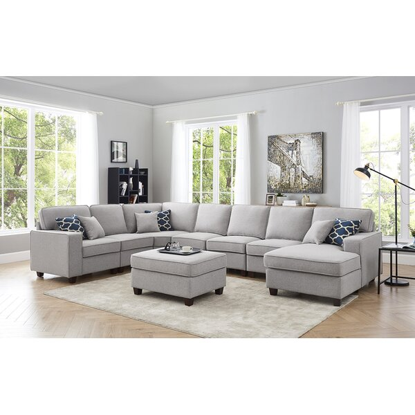 #2 Littleness Symmetrical Modular Sectional With Ottoman By Latitude Run No Copoun