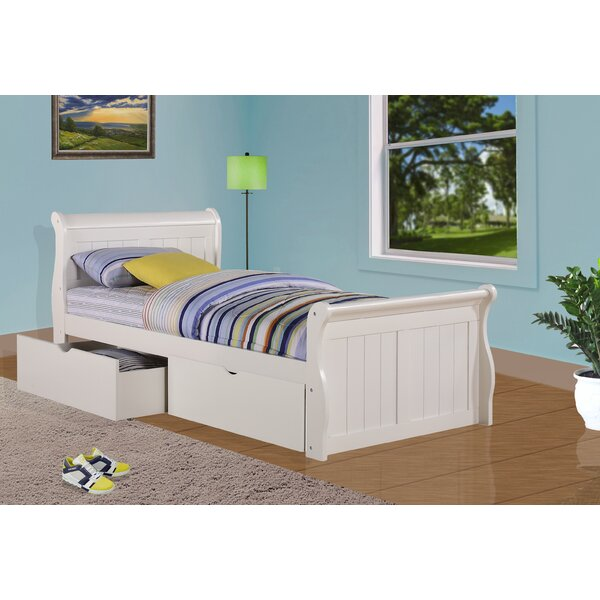 Jacquline Sleigh Bed with Storage by Harriet Bee