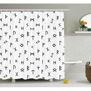 Berkowitz Tribal Symbols Shower Curtain ByWrought Studio