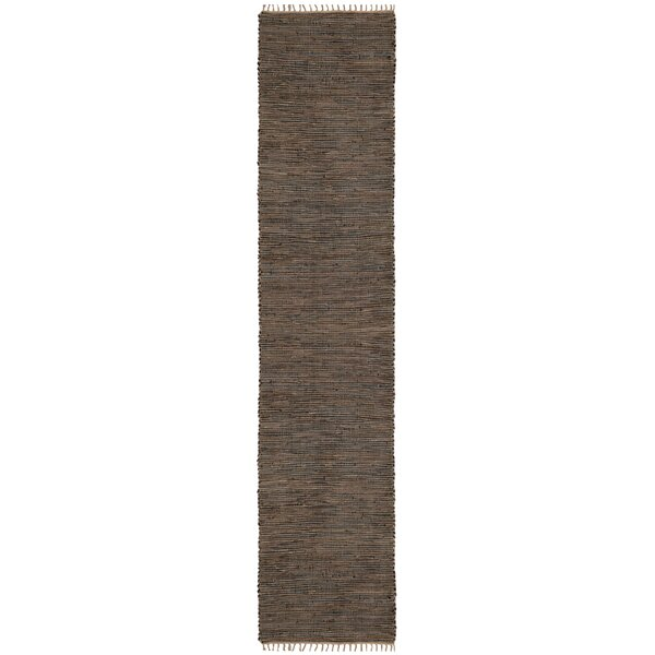 Sandford Hand-Loomed Brown Area Rug by Bungalow Rose