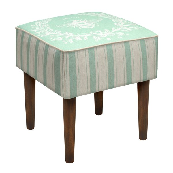 Napoleon Bee Upholstered Vanity Stool by 123 Creations