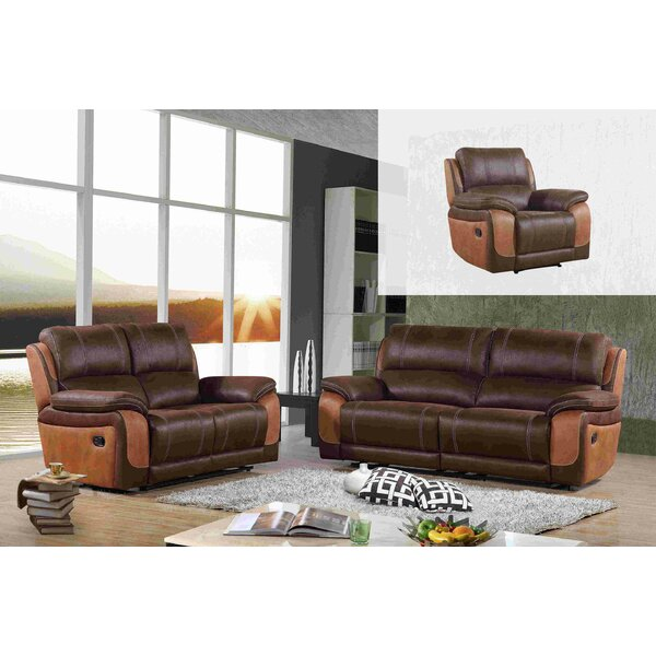 Whicker 3 Piece Living Room Set by Loon Peak