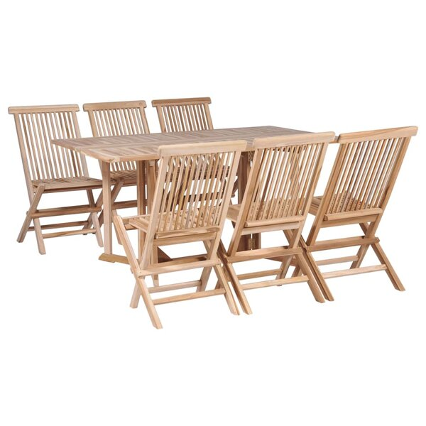 Anais 7 Piece Teak Dining Set by Rosecliff Heights