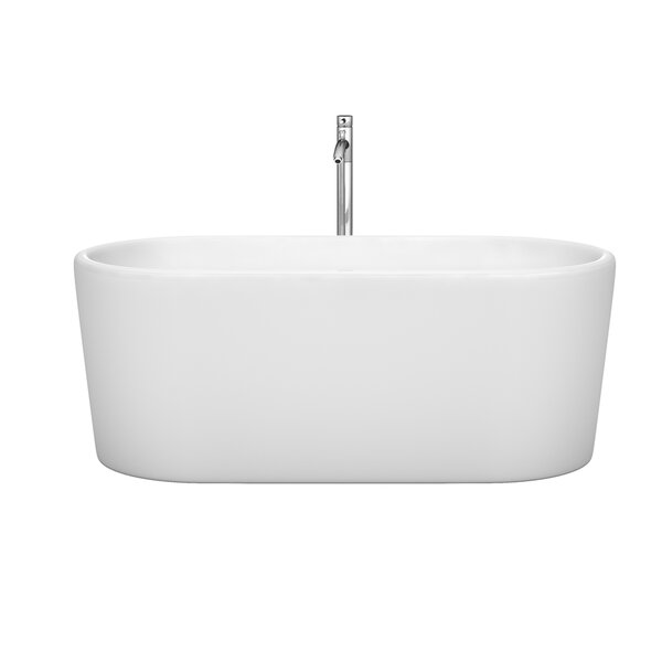 Ursula 59 x 27.5 Soaking Bathtub by Wyndham Collection