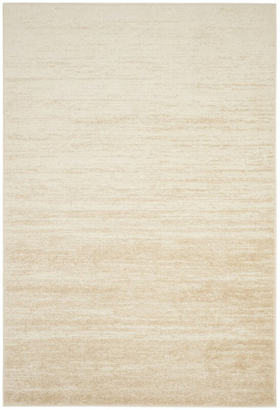 Captivating Schacher Champagne/Cream Area Rug