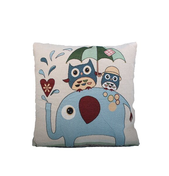 Elephant Print Throw Pillow by Mr. MJs