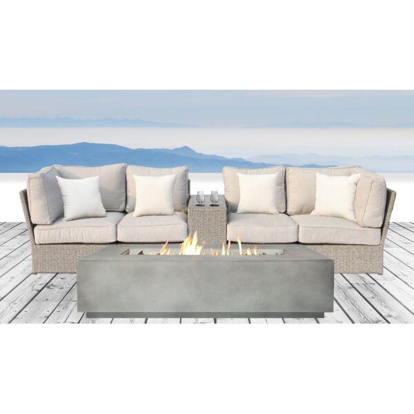 Winsford 6 Piece Sofa Set with Cushions by Rosecliff Heights