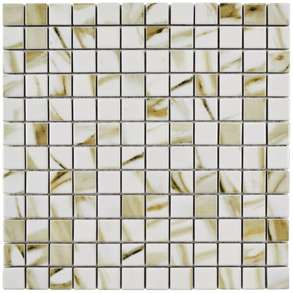 Gloria 0.9 x 0.9 Porcelain Mosaic Field Tile in Cream by EliteTile