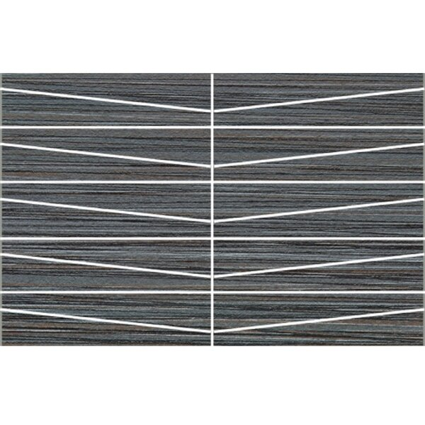 Bamboo Oblong 12 x 24 Porcelain Field Tile in Noir Linen by Travis Tile Sales
