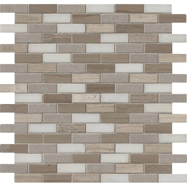 Arctic Storm Mounted 0.63 x 2 Marble Mosaic Tile in Brown by MSI