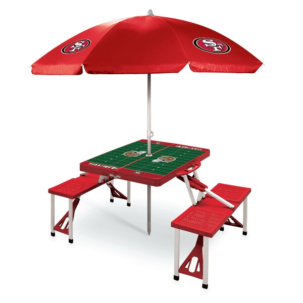 NFL 3 Piece Picnic Table with Sunbrella by ONIVA™